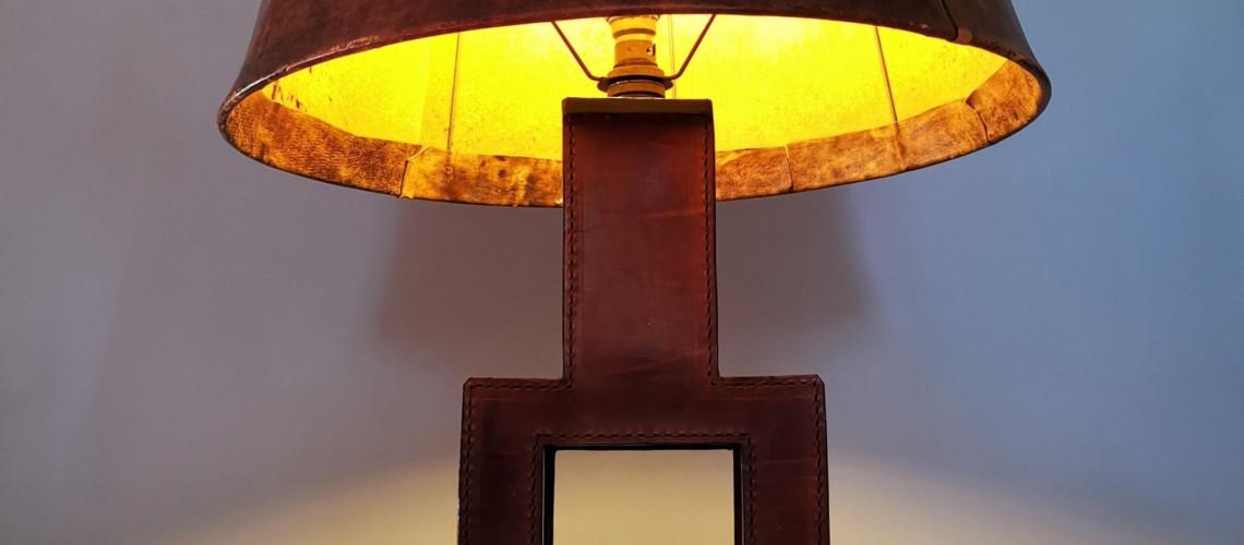 Lampe Cuir Circa 60